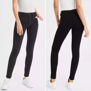 American Eagle Hi-Rise Jegging skinny jeans black